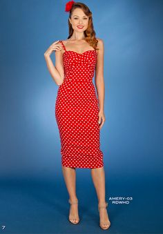 Stop Staring Amery Dress - Spring/Summer 2016 - AMERY -03 RDWHD - Red with White Polka dot