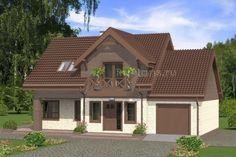 Дом с мансардой, просторной террасой и гаражом Rg4945