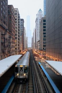 Chicago, Illinois - L Train - Lantern Press Photography Giclee Art Print, Gallery Framed, White Wood), Multi Chicago Loop, Chicago City, Chicago Illinois, Illinois State, Commuter Train, Train Art, Trump Tower, My Kind Of Town, City Aesthetic