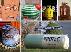 Propane tanks have found a place in urban, suburban and rural settings with some owners choosing to beautify them so they'll fit in even better. Reuse Recycle, Recycling, Propane Tank Art, Outside Sheds, Grill Gas, Outside Decorations, Creative Thinking, Diy Projects To Try, Home Brewing