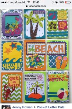 At the beach pocket letter