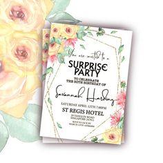 80th Birthday Invitations For Her 80th Birthday Invitation Template