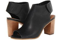 These peep-toe sandals with chunky block heels. | 36 Pairs Of Heels That Won't Hurt Your Feet
