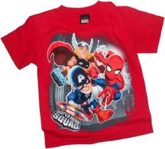 Big 3 Team-Ups — Marvel Super Hero Squad Youth T-Shirt, Youth Medium