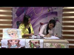 Mulher.com 05/02/2015 - Thanynha pintura em tecido por Elsa Frozen Parte 2