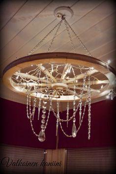 Valkoinen Kaniini: Toinen Chandelier, Ceiling Lights, Lighting, Home Decor, Candelabra, Decoration Home, Light Fixtures, Room Decor, Lights