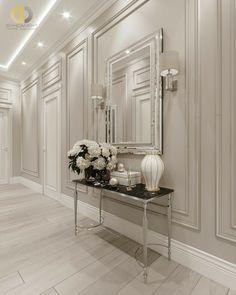 Home Design Living Room, Elegant Living Room, Living Room Decor, Interior Wall Colors, Home Interior Design, Halls, Home Entrance Decor, Appartement Design, Hallway Designs