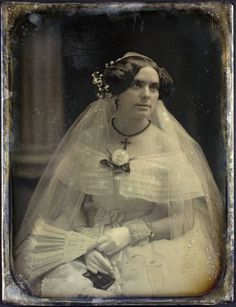 Beautiful bride, unidentified, picture dated 1850, George Eastman House Collection at Flickr Commons