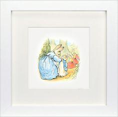 John Lewis Beatrix Potter - Now Run Along Peter Rabbit Framed Print, 23 x 23cm