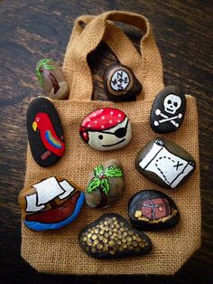Pirate Adventure Story Stones by starrygirlb on Etsy