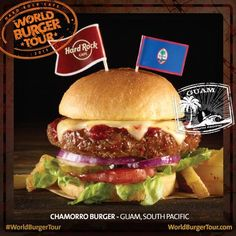 #WorldBurgerTour: il Local Burger dell'Hard Rock Cafe Guam, il Chamorro Burger!