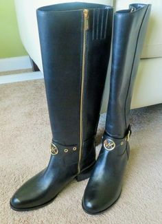 ff2d6fc1adb Michael Kors Heather Boots Black Size 7M NIB #MichaelKors #KneeHighBoots  Designing Women, Knee