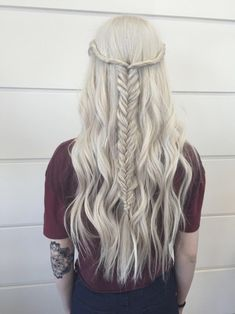 half-up fish tail braid
