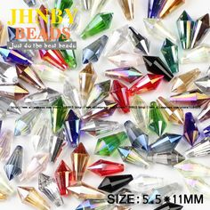 JHNBY AAA Cone Pendant Waterdrop Austrian crystal beads 5.5*11mm 50pcs Spire glass Loose beads for jewelry making bracelet DIY #Affiliate