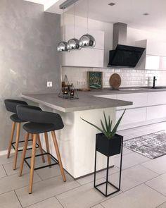 Dining area, dining room, furnishings - Home Decor Kitchen Room Design, Modern Kitchen Design, Home Decor Kitchen, Interior Design Kitchen, New Kitchen, Kitchen Ideas, Modern Design, Modern Kitchen Cupboards, Kitchen Grey