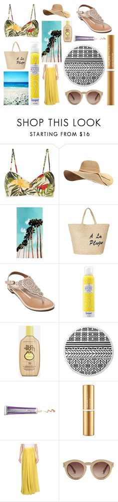 A Day at the Beach by littlemissel on Polyvore featuring Miguelina, Ports 1961, New Directions, Joie, STELLA McCARTNEY, Supergoop!, AmorePacific, Sun Bum, Chantecaille and The Beach People