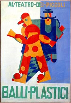 Illustration by Fortunato Depero, 1918, Plastic Ballets. © Getty Images
