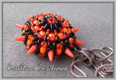 Beaded pendant Sea Urchin  tutorial by EridhanCreations on Etsy, $5.00