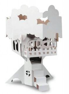 a7850e28e92 Calafant Boomhut - StudioZomooi Kartonnen Kunst, Leuke Knutselwerken,  Winter Huis, Poppenhuizen, Speelgoed