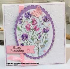 Sweet Pea Show digital stamp set by Power Poppy, card design by Lindsay Ettlinger.