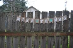 Miss to Mrs Banner, Bride to Be, Bachelorette Party, Bacheloretty Party Decorations, Bridal Shower Banner, Bridal Shower Decor, Rustic