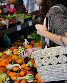 Fair Trade market tote - handmade in Bangladesh - perfect for Autumn market trips