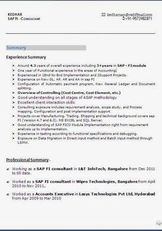 sap fico resumes sap fico resume sap fico sample resume sample resume for sap fico - Sap Fico Resume Sample