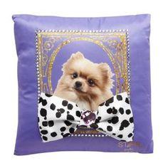 Star by Julien Macdonald Designer purple dog embellished cushion- at Debenhams Mobile