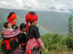 Red Hmong rainbows by Glenn  Phillips, via Flickr