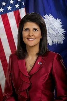 """Nikki Haley, the so-called """"ambassador"""" to the UN.  It was not very ambassadorial of her to stand in front of the UN's general assembly and threaten every nation that opposed Drumpf's declaration that Jerusalem is the capital of Israel. She is one of many reasons why America has become the laughingstock of the entire world."""