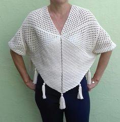 Crochet Hats, Crochet Dresses, Estilo Boho, V Neck, Knitting, Shawls, Pattern, Sweaters, Women