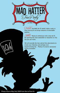 Mad Hatter Invitation Design Party invitation templates and Tea