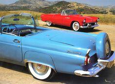 1956 Ford Thunderbird Turquoise Rvl Clip 1955 Thunderbird Red Fvr