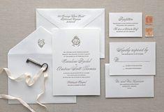 Charleston Letterpress Wedding Invitation by CHATHAMandCARON