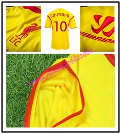 Liverpool Coutinho 10 Warrior Sports Away Fussball Trikot 2014 2015