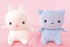 Quirky Artist Loft: Bitty Baby Bunny & Kitty: Free Pattern