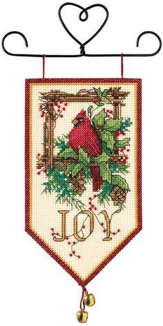 Banners Cardinal Joy Mini Counted Cross Stitch Kit-10  Long