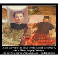 """NEW!  PROFOUNDLY CATHOLIC AUDIO FROM APOSTOLATE FILMS:  Two of Saint John Bosco's extraordinary dreams, the Snake and the Rosary followed by the Anvil and the Hammer, with a very special introductory story by Servant of God, Father John A. Hardon, S.J.  These are the remedies you must use.  """"Trust all things to Jesus in the Blessed Sacrament and to Mary, Help of Christians, and you will see what miracles are.""""  ~ Saint John Bosco  +"""