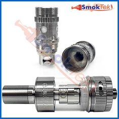 Aspire Atlantis, 2ml Sub Ohm Coil, Pyrex (with airflow control) | SmokTek.com - The highly anticipated Aspire Atlantis offers the benefits of a Rebuildable Atomizer in the shape of a hassle-free replaceable coil tank system! Like the Aspire Nautilus line, it is made of stainless steel with a pyrex glass tank, allowing the use any juice without fear of damaging the tank. It has 2ml capacity and is easy to fill or replace the coil.
