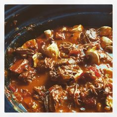 Slow Cooker Recipes, Beef Recipes, Ghanaian Food, Snack, Love Food, Stew, Meal Planning, Chili, Curry