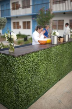 boxwood bar by MMD Events