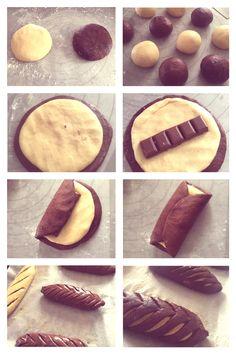 Art Du Pain, Pain Pizza, Bread Shaping, Bread Art, Homemade Pastries, Dessert Cake Recipes, Puff Pastry Recipes, Bakery Recipes, Artisan Bread
