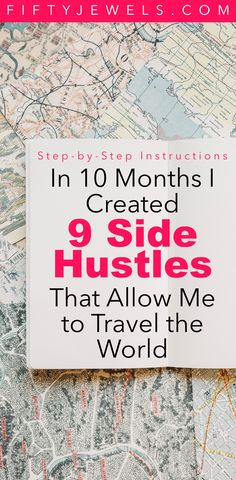 Passive Income Side Hustles - Learn my step-by-step process for creating passive income. I use it to travel the world - what do you want if for? #passiveincome #sidehustle #workfromhome #makemoneyonline