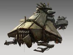 Concept spaceship art by Drock Nicotine
