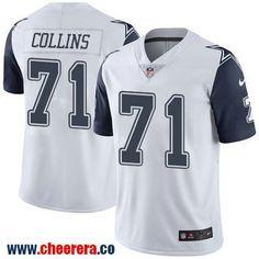 Men's Dallas Cowboys #71 La'el Collins White 2016 Color Rush Stitched NFL Nike Limited Jersey
