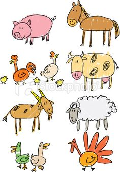 beginning drawing farm animals for the littles