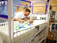Even babies are mesmerized by Kevin Kiermaier's eyes. He and Jake McGee visited All Children's Hospital this morning.