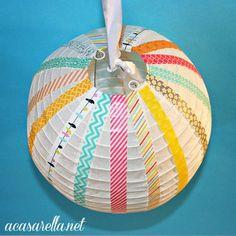 Washi Tape Kids room / cuarto de niños Washi Tape Paper Lanterns