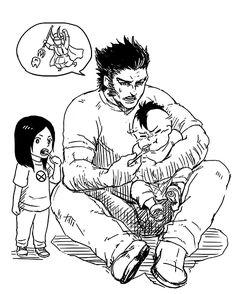 Wolverine, Daken and Laura X-23 X-men