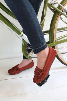 Unhemmed Jeans DIY | Minnetonka Moccasin